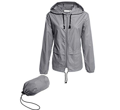 Hount Ladies Raincoat Hooded Jacket Packable Active Outdoor