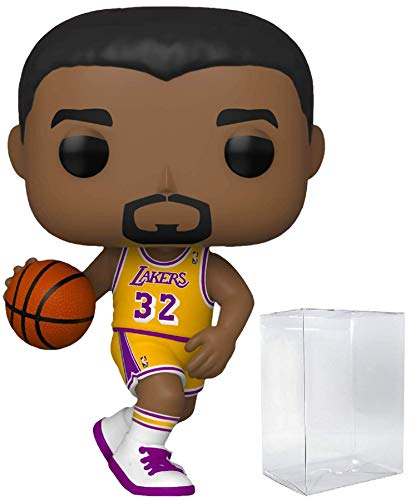 Magic Johnson LA Lakers Home Jersey #78 Pop Sports NBA Legends Action Figure (Bundled with Ecotek Pop Protector to Protect Display Box)