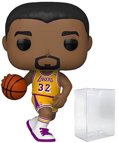 매직 존슨 라 레이커스 홈 저지 78 팝 스포츠 NBA 전설 액션 피규어(디스플레이 박스를 보호하기 위해 ECOTEK POP PROTECTOR 와 함께 번들)
