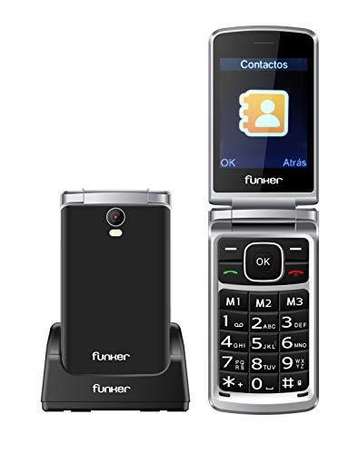 🥇 Teléfono Móvil Funker C95 Comfort MAX con Tapa y Pantalla Extragrande