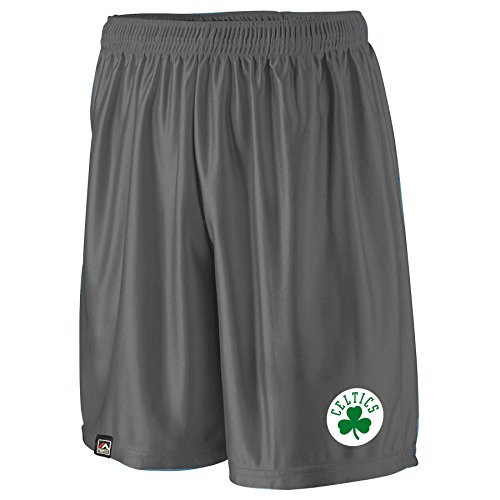 NBA Boston Celtics Men's B&T Poly Fleece Team Shorts, 4X, Charcoal