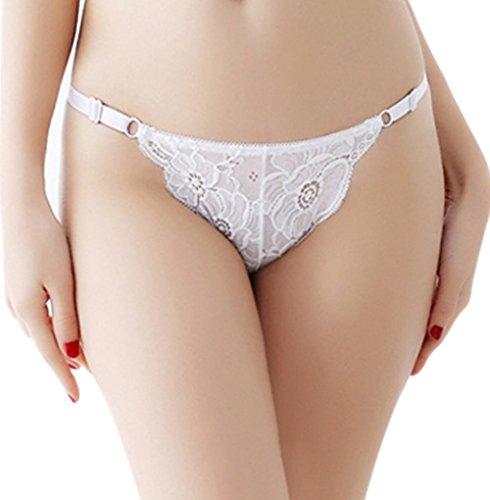 trasparente breve da bianca Aimee7 intima Biancheria intima Mutandine Biancheria in elastiche donna pizzo EYBwEPxqa