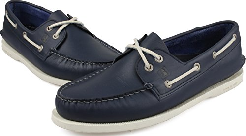 Båt Ö Unisex Avslappnad Premium Handgjort Läder Dagdrivare Skor Navy
