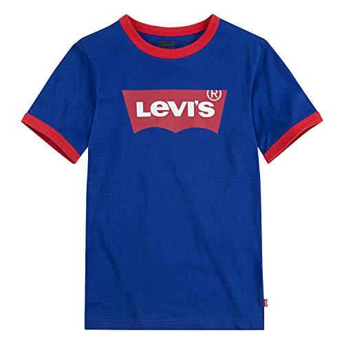Levi's Boys' Toddler Classic Batwing T-Shirt, Sodalite Blue Ringer, 4T (Ringer Designer Kids T-shirt)