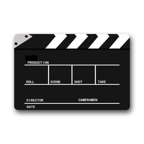 Movie Cinema Lapper Board Doormat Outdoors/Indoor Machine Washable Home Floor Mats Rugs 23.6 x 15.7 inches