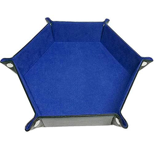 Yiotfandoll Dice Tray PU Leather Folding Dice Holder Storage with