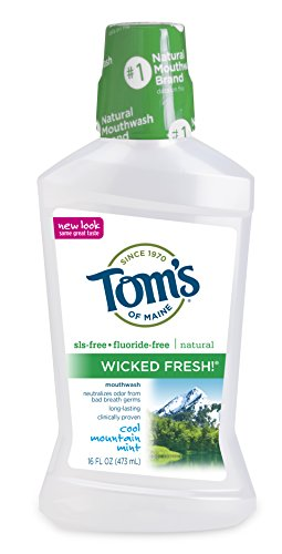 Tom's of Maine Natural Wicked Fresh! Mouthwash, Cool Mountain Mint, 16 Ounce