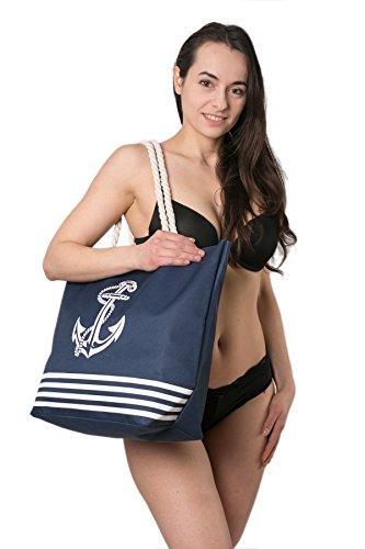 Bolsa Azul de de Patrón verano playa Marino ancla mujer para del Fairee grande Airee gU7BdnrU
