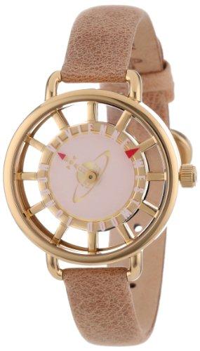 Vivienne Westwood Women's VV055PKTN Tate Swiss Quartz Tan Leather Strap Watch