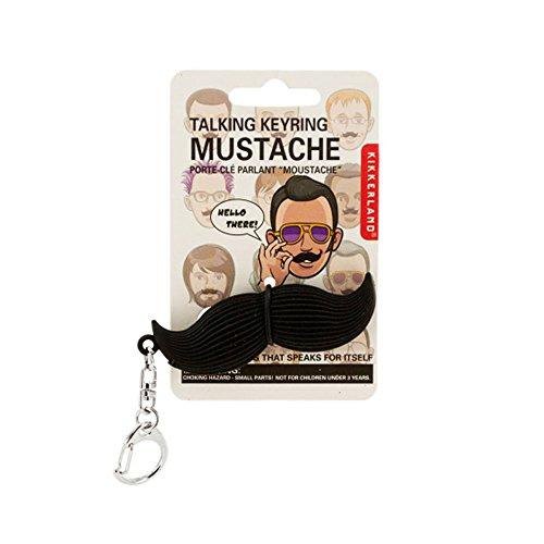 Bulk Buys Talking Mustache Keychain - 18-PK -