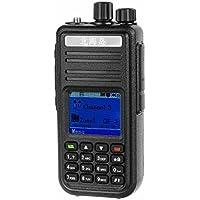 1.8 LCD 5W 128-CH U-Band 400~480MHz DMR Digital + Analog Walkie Talkie - Black + Silver