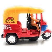 Hetkrishi Battery Operated Auto Rickshaw Toy with Sound & Flashing Light | Auto Rickshaw Toys for Kids|Boys|Girls
