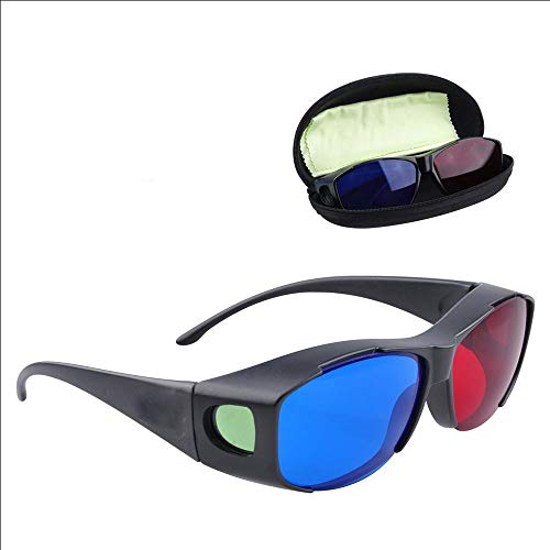Dailim Red-Blue 3D Glasses, with Case, 3D Movie Glasses for Movie/Cinema/Theater