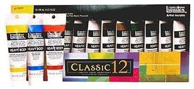 Liquitex Classic 12 Heavy Body Acrylic Color Set 1 pcs sku# 1841348MA