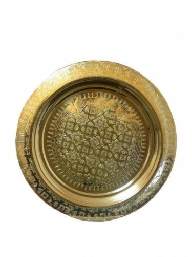 Bandeja de té marroquí altempo árabe dorado 40 cm de diámetro
