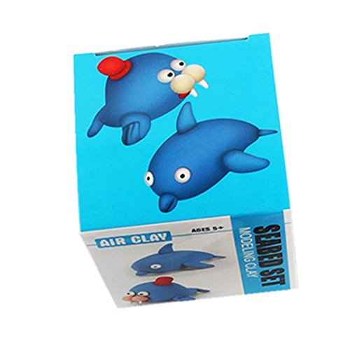 Dingji DIY Space Clay Rubber Intelligent Hand Plasticine Slime Kid Toys (Dolphins and Sea Lion)