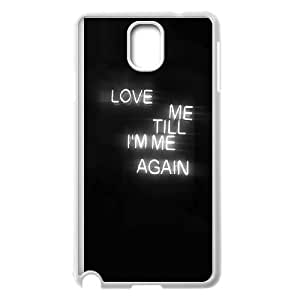 Samsung Galaxy Note 3 Cell Phone Case White_quotes love me till Im me again Fduwl