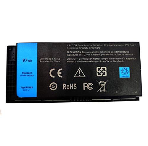 Ding New FV993 Replacement Laptop Battery Compatible with Dell Precision M4600 M4700 M4800 M6600 M6700 M6800 R7PND 0TN1K5 V7M28 7DWMT JHYP2 K4RDX