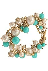 Carolee Bracelet, Gold-Tone Simulated Pearl Beaded Cluster Bracelet
