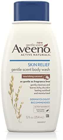 Aveeno Skin Relief Gentle Scent Body Wash, Nourishing Coconut, 12 Fl. Oz