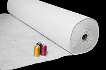 from ThreadNanny Machine Embroidery Stabilizer Backing 100 Precut Sheets- Medium Weight 1.8oz Tear Away - 12x10 Fits 5x7 Hoop size