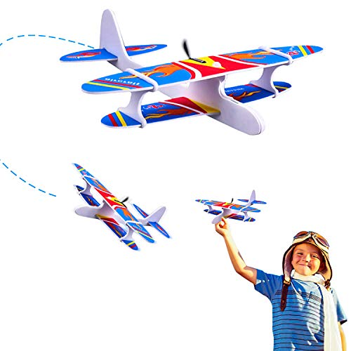 Ziwing Airplane Toys - Foam Glider Plane with Electric Motor for Kids Outdoor Throwing and Flying - Model Airplanes Kits to Build a Engineering Toy Airplane - Great STEM Toy Gift (Plane Build To Models)