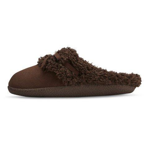 Dearfoams Dluxe Caroline Womens Slippers Brown Large (9-10)