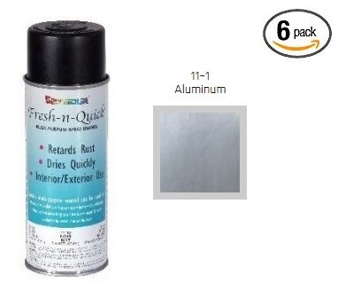 Seymour FRESH-N-QUICK 11-1 Aluminum Color Multi-Purpose Enamel Spray Paint (6)