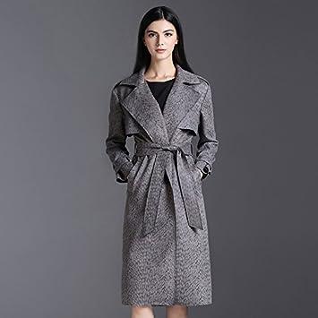 Womens HIDRRU Sau de lana de piel de reno polar abrigo mujer otoño e invierno 2017 nuevo empate de manga larga Sau abrigos: Amazon.es: Deportes y aire libre
