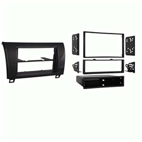 Metra 99-8220CHG Single/Double DIN Dash Installation Kit for 2010-Up Toyota Tundra Vehicles (High Gloss Charcoal)