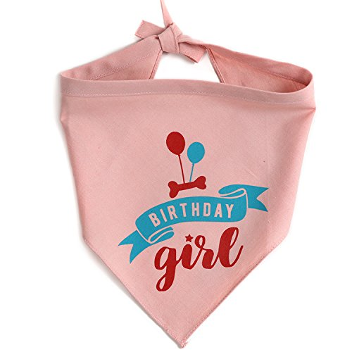- JOYLOADER Dog Birthday Bandana Girl - Dog Birthday Party Supplies - Birthday Girl Dog Bandana - Ideal Birthday Gift Idea for Pet