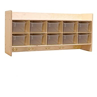 Contender C51401F Wall Locker u0026 Cubby Storage w/10 Translucent Trays Assembled  sc 1 st  Amazon.com & Amazon.com: Contender C51401F Wall Locker u0026 Cubby Storage w/10 ...