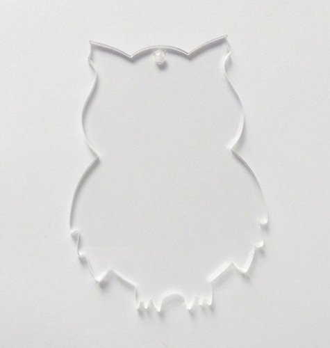 10PCS of Blank Clear Acrylic Owl Pendants,Blank Keychain Laser Cut Save The Date Halloween Necklace 1/8