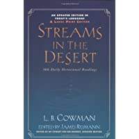 Streams in the Desert, Large Print: 366 Daily Devotional Readings
