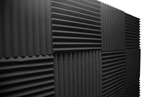 Acoustic Foam Panels; Studio Wedge Tiles; 12 Pack; 1″ X 12″ X 12″