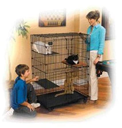 Houses, Kennels & Pens Comfortable Soft Hanging Cat Bed Cattery Mat Durable Kitten Cat Hammock 2 Level Pet Cage Hammock Bed Cover Cushion Firm In Structure
