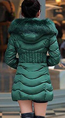 Caldo Lungo Donna Verde Sottile Grossa BLACKMYTH Invernale Giacca Taglia Piumino Parka aWqPwwxn