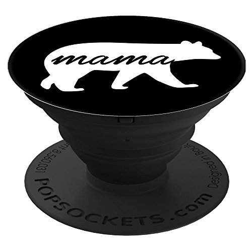 ear Black PopSockets Stand for Smartphones and Tablets (Wireless Bear)
