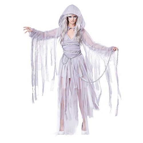 Couples Costumes Scary (California Costumes Women's Haunting Beauty Ghost Spirit Costume, Gray,)
