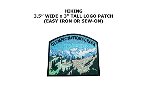 Olympic National Park Hiking Embroidered Iron/Sew-on Comic Cartoon Theme Logo - Strange Olympic Sports