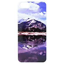 Graphics and More Rocky Mountain Reservoir Snap-On Hard Protective Case for iPhone 5/5s - Non-Retail Packaging - White
