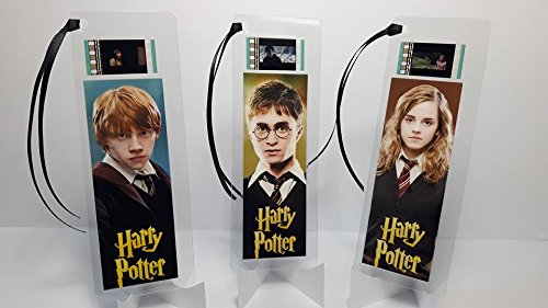 Harry Potter Movie Film Cell Bookmark Set Of 3 Collectible
