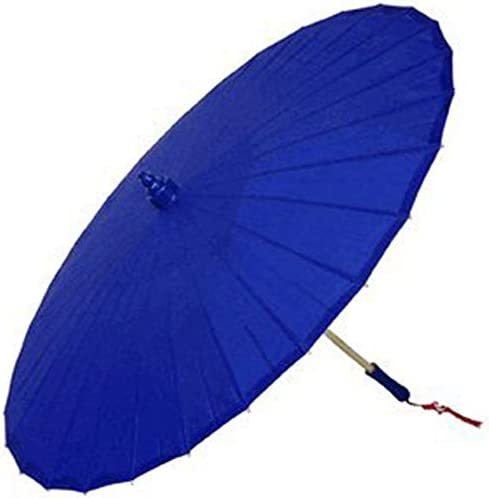 Just Artifacts Brand – 20-Inch Silk Parasol Chinese Japanese Umbrella – Color Royal Blue