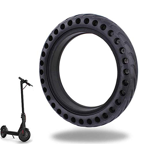 Ourleeme Mi Scooter Tires, Electric Scooter Tire Honeycomb Design,8.5In Rubber Solid Tire Front/Rear Tire,Replacement Wheels for Scooter (Rubber Rear Wheels)