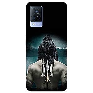 SmartNxt® Designer Printed Soft Plastic Mobile Cover for Vivo V21 5G  Spiritual  Multi-Coloured  Back Side of Lord Shiva