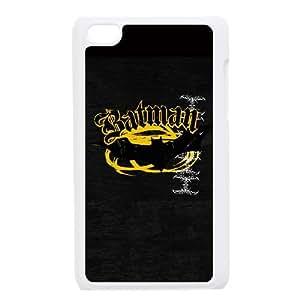 iPod Touch 4 Case White Batman Bat Logo Yellow & Black Tmihm