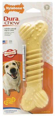 Nylabone Products NCF305P Dura Chew Plus Dog Chew, 7-1 2-In. Super Size Quantity 4