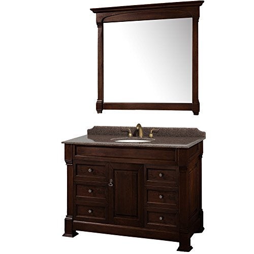 Wyndham Collection WCVTRAS48SDCIBUNOM44 Andover Vanity, Dark Cherry ()