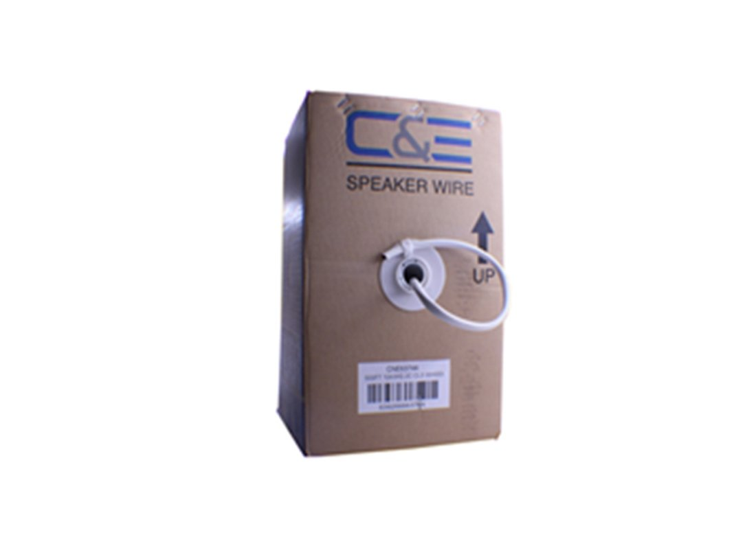 C&E 500 feet, 14AWG 2 Conductor Solid Copper, Oxygen-Free Speaker Wire Cable, CNE63652