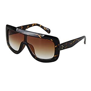 Oversized Celebrity Kim Kardashian Women Sunglasses Sexy Sun (Tortoise, Brown)